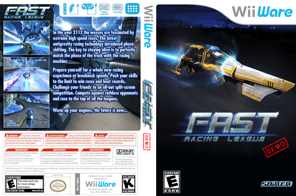 Fast Racing League Demo Wii coverfullHQ (XIJE)