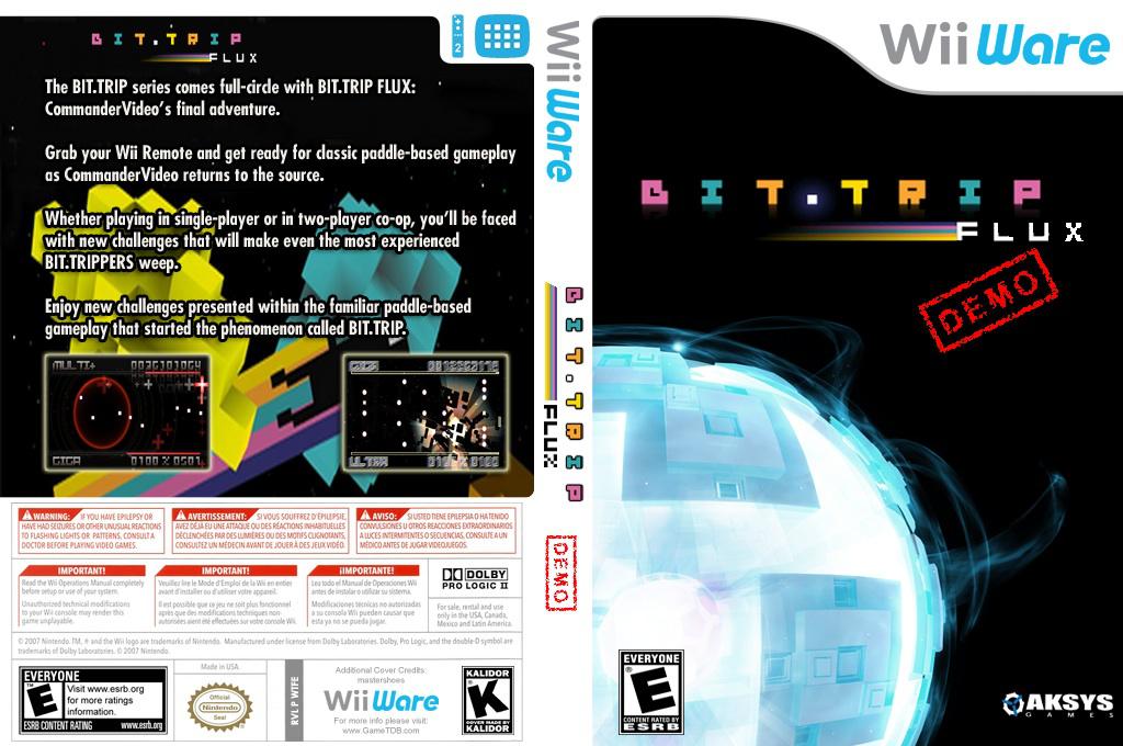 BIT.TRIP FLUX Demo Wii coverfullHQ (XISE)