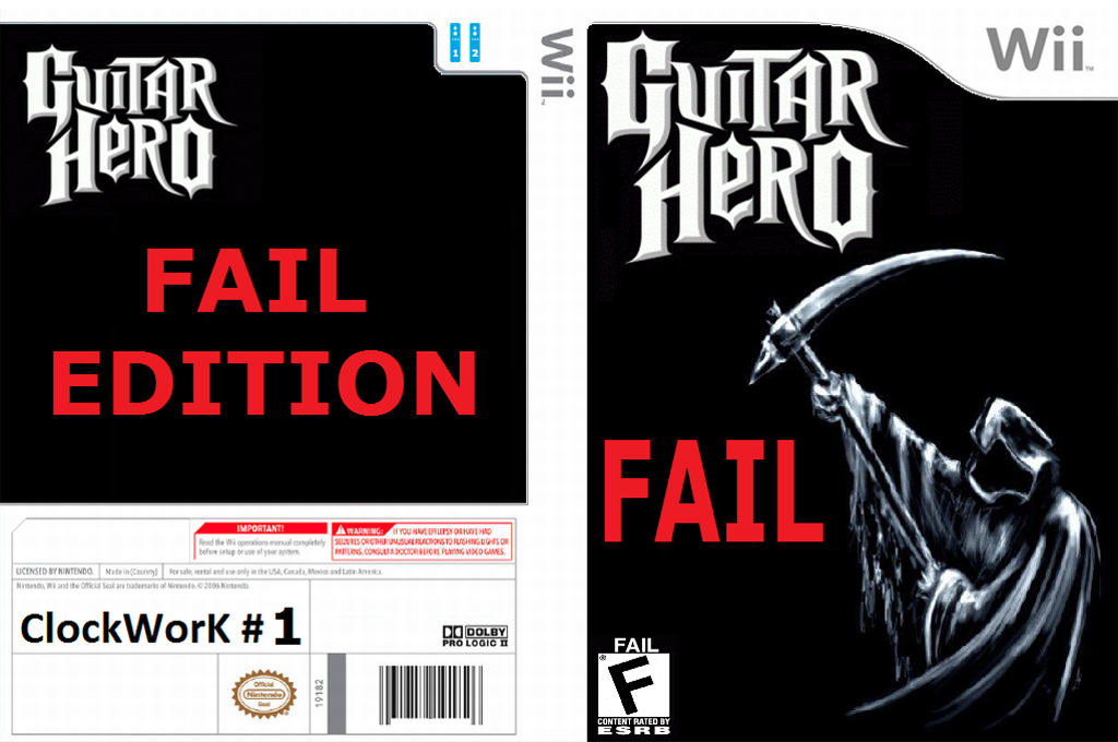 Guitar Hero III Custom : Fail Edition Wii coverfullHQ (RGHC20)