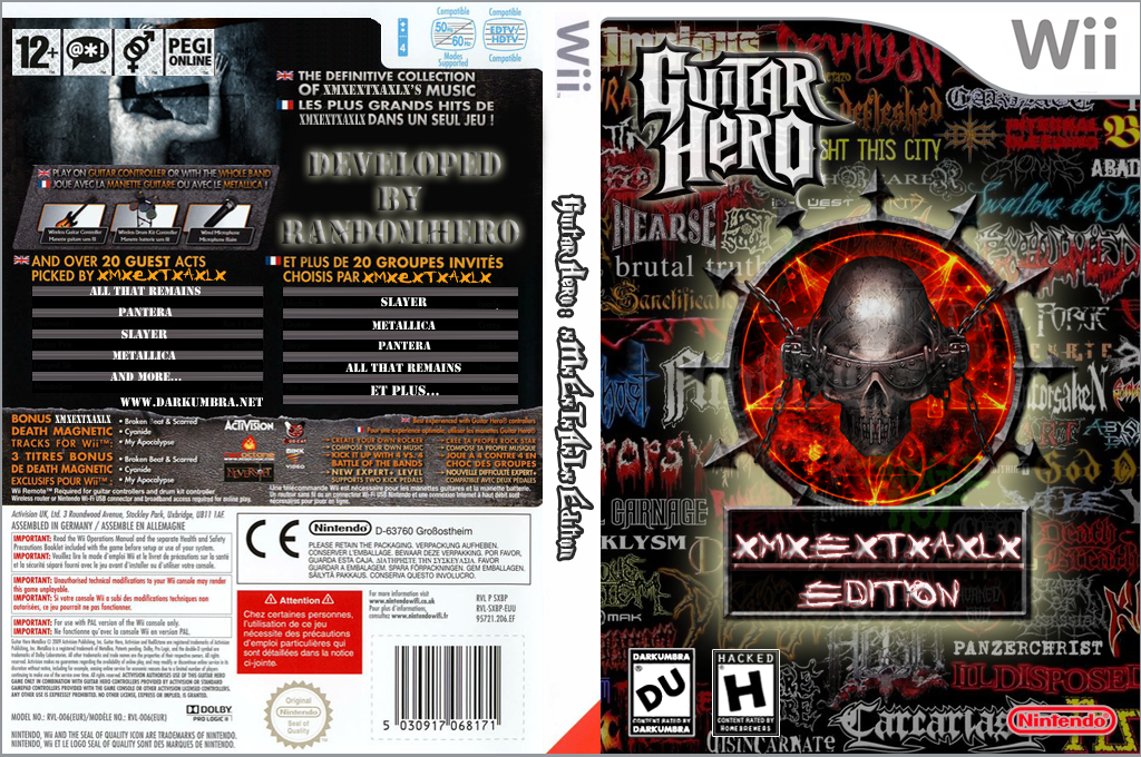 Guitar Hero III Custom:xMxExTxAxLx's Edition Wii coverfullHQ (RGXM52)
