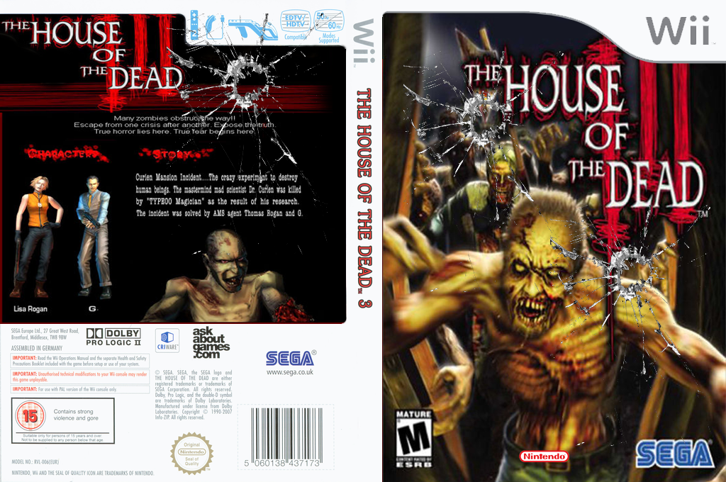 The House of the Dead 3 Wii coverfullHQ (RHD333)