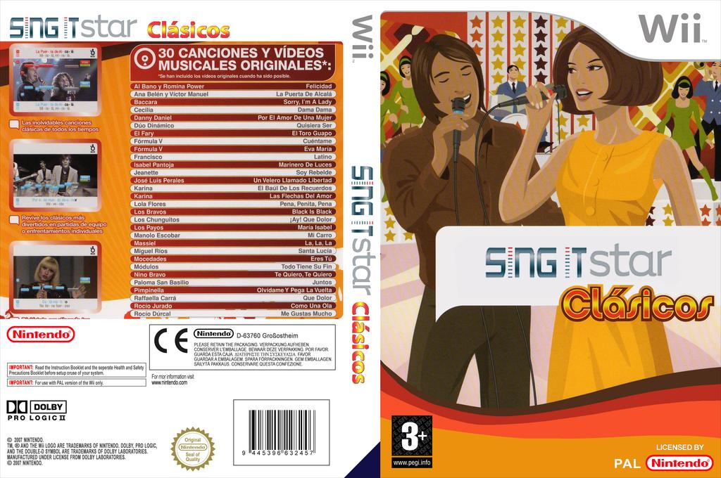 SingIt Clasicos Wii coverfullHQ (SGI1CL)