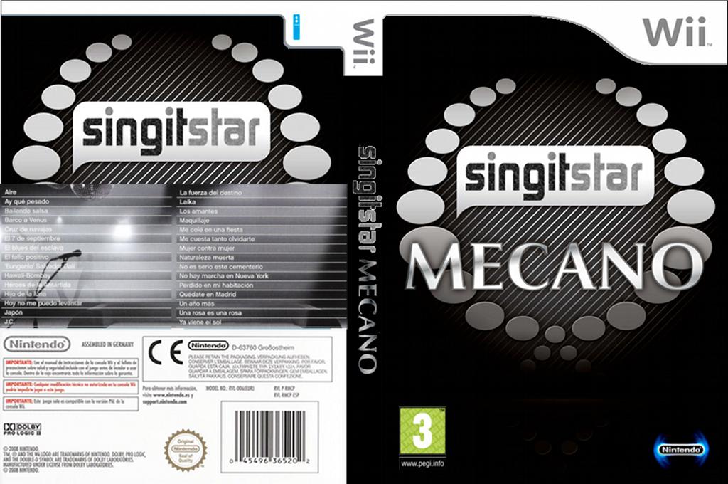 SingItStar Mecano Wii coverfullHQ (SGI1MC)