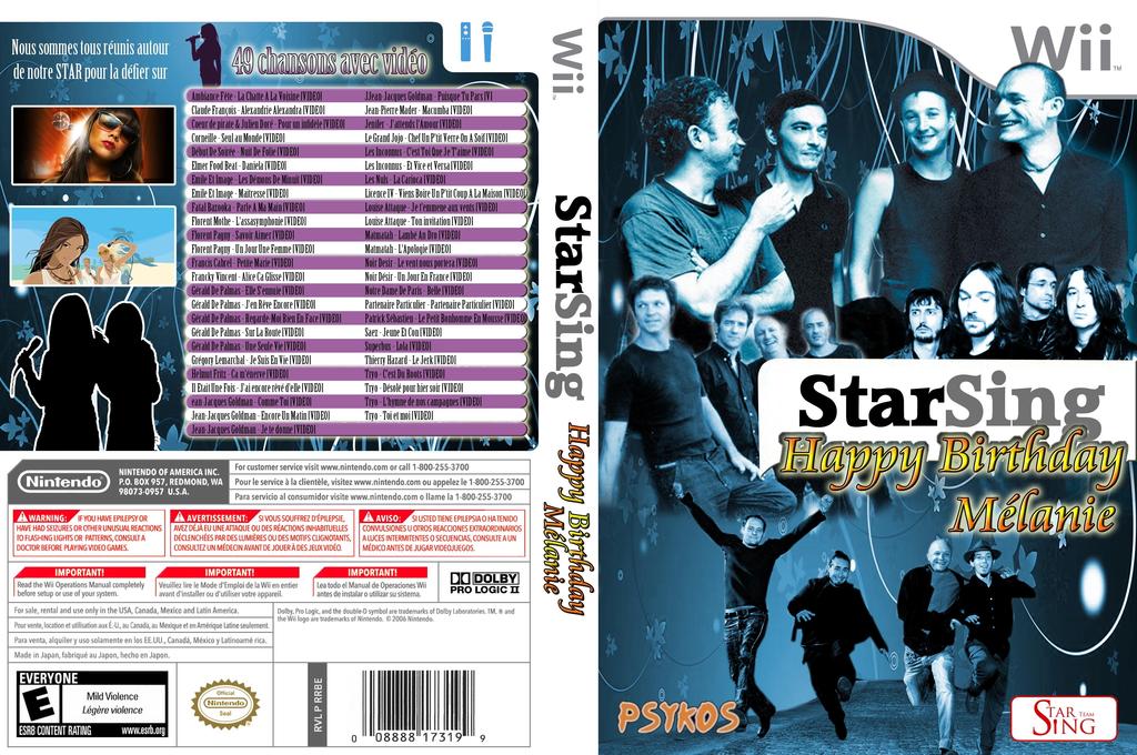 StarSing:Happy Birthday Mélanie v1.1 Wii coverfullHQ (SISMEL)