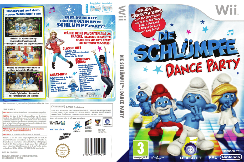 Die Schlümpfe: Dance Party Wii coverfullHQ2 (SDUP41)