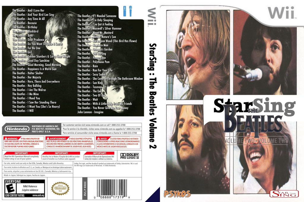 StarSing : The Beatles Volume 2 v2.1 Wii coverfullHQ2 (CTOP00)