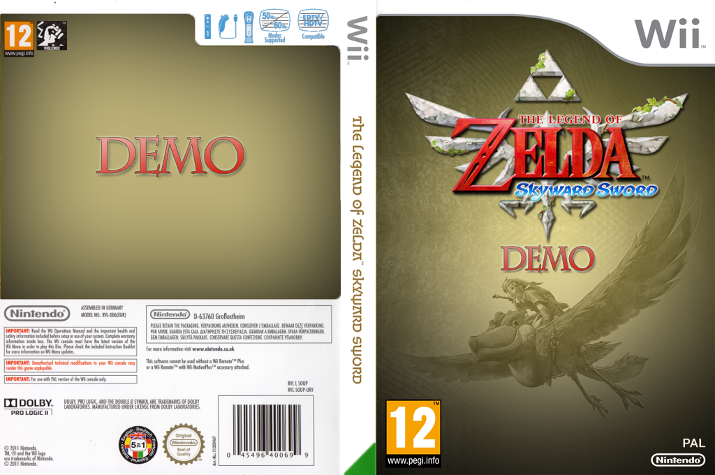 The Legend of Zelda: Skyward Sword (Demo) Wii coverfullHQ2 (DAXP01)