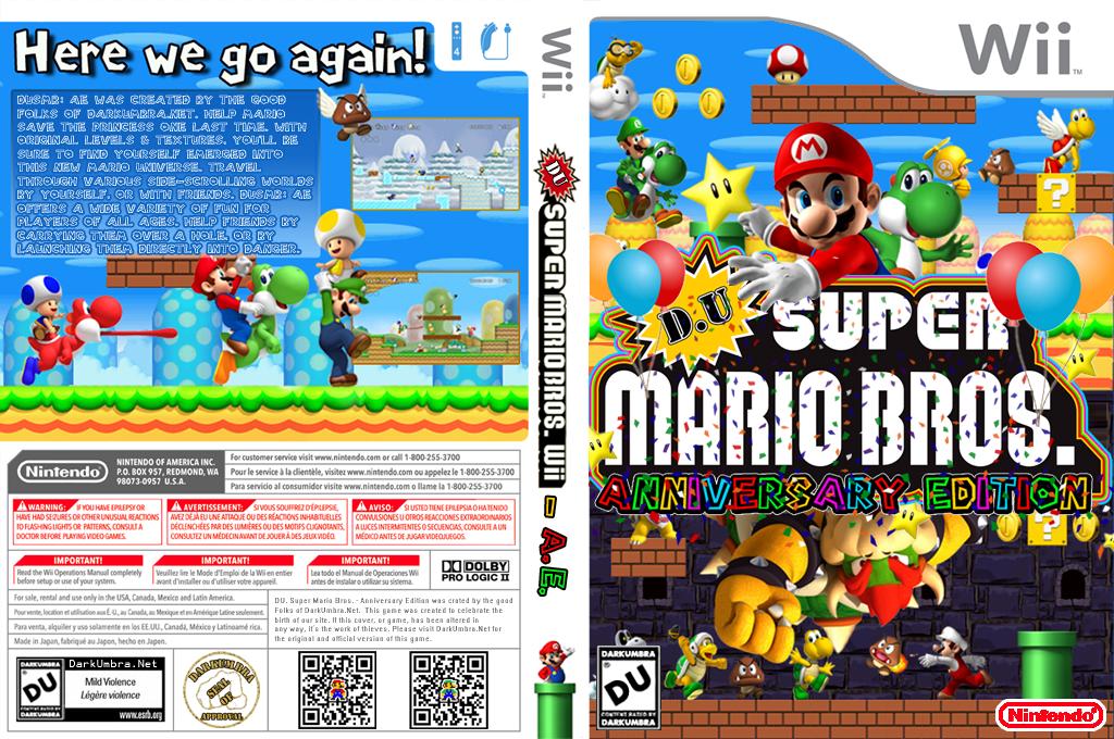 DU Super Mario Bros.:Anniversary Edition Wii coverfullHQ2 (DUAP01)