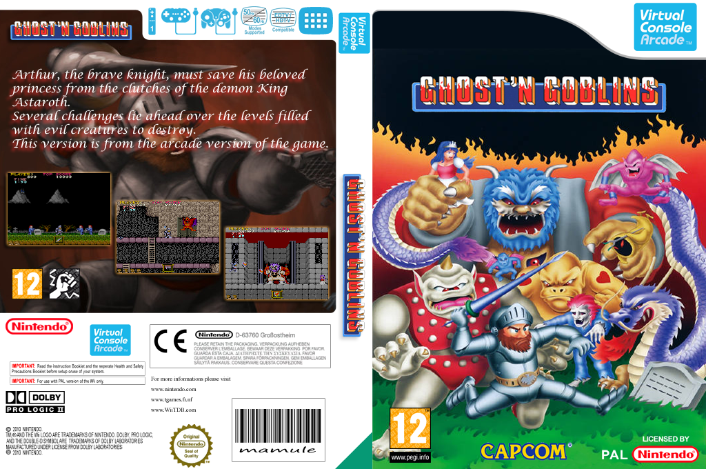 Ghost'n Goblins Wii coverfullHQ2 (E54P)