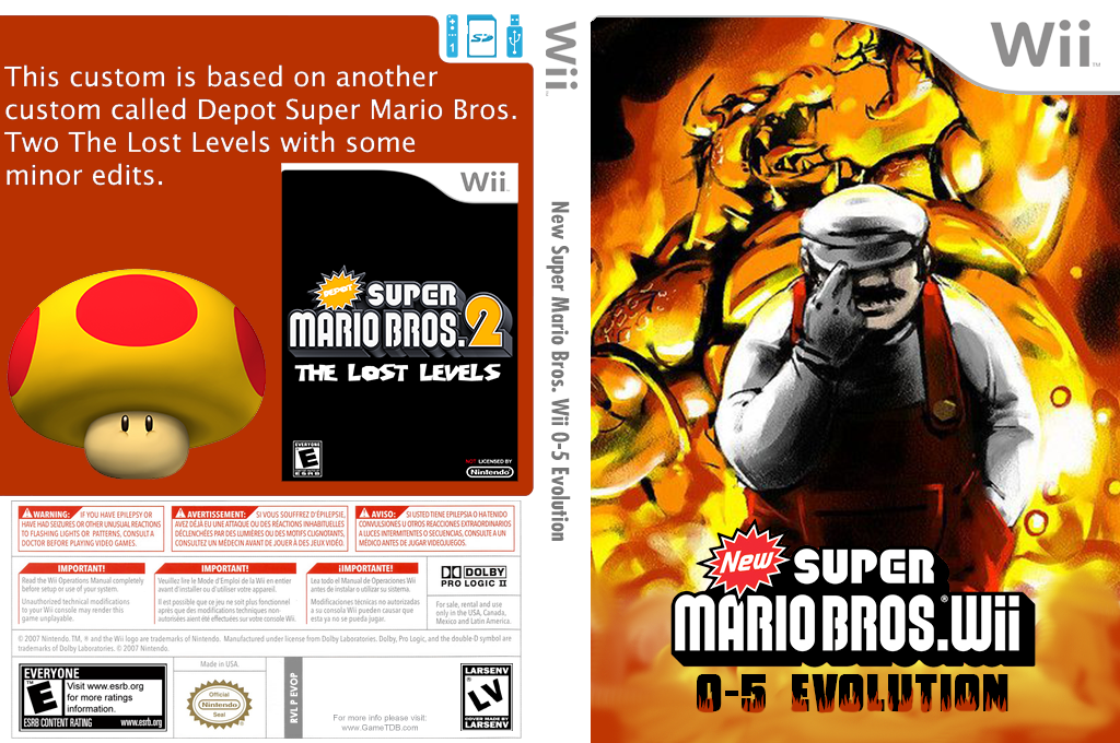 New Super Mario Bros. Wii 0-5 Evolution Wii coverfullHQ2 (EVOP01)