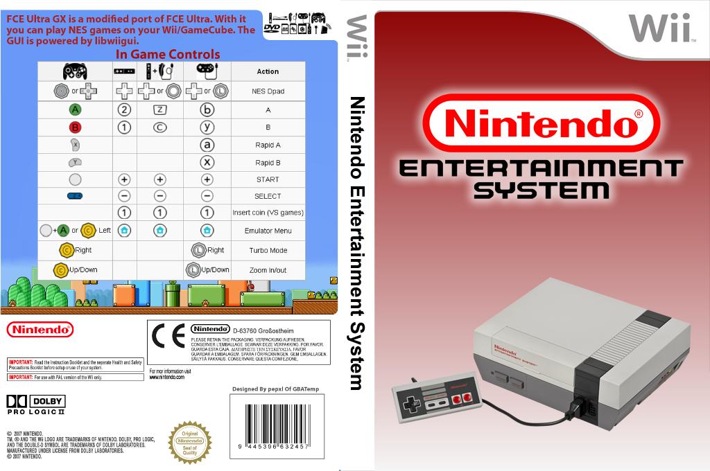 FCE Ultra GX Wii coverfullHQ2 (FCEU)
