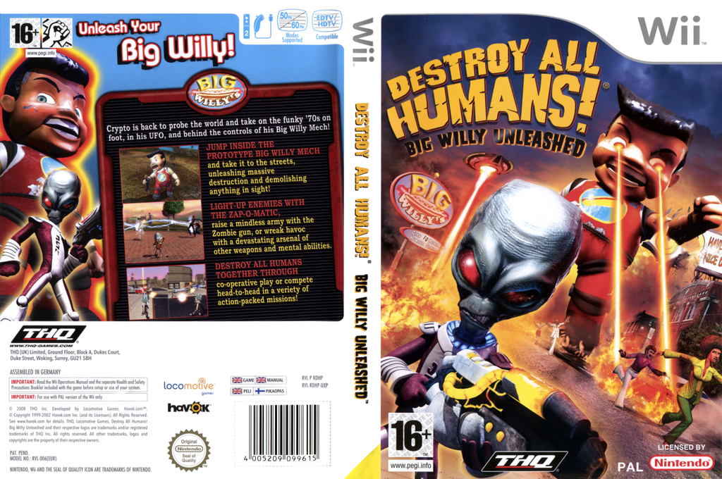 Destroy All Humans! Big Willy Unleashed Wii coverfullHQ2 (RDHP78)
