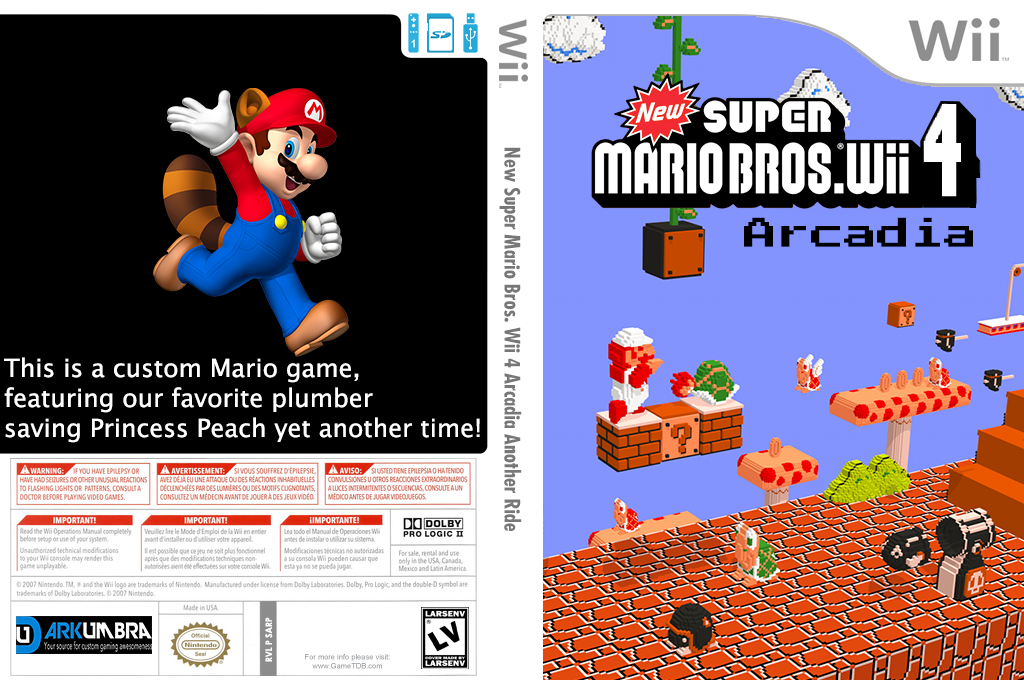 New Super Mario Bros. Wii 4 Arcadia Another Ride Wii coverfullHQ2 (SARP01)