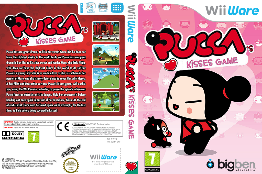 Pucca's Kisses Game Wii coverfullHQ2 (WPJP)