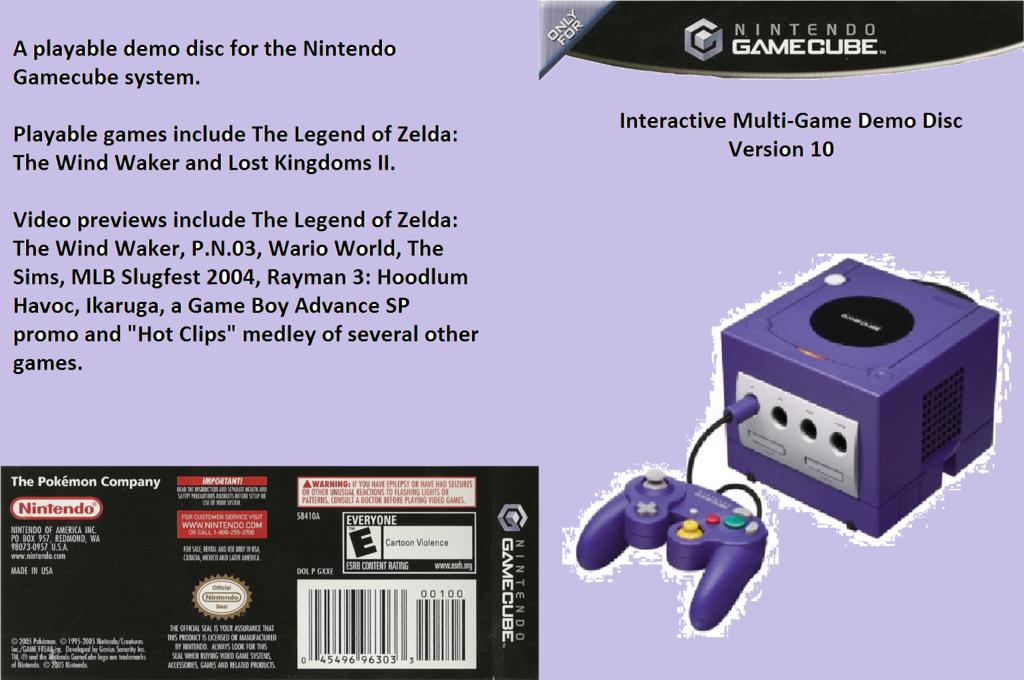 Interactive Multi-Game Demo Disc - Version 10 Wii coverfullHQ2 (D88E01)