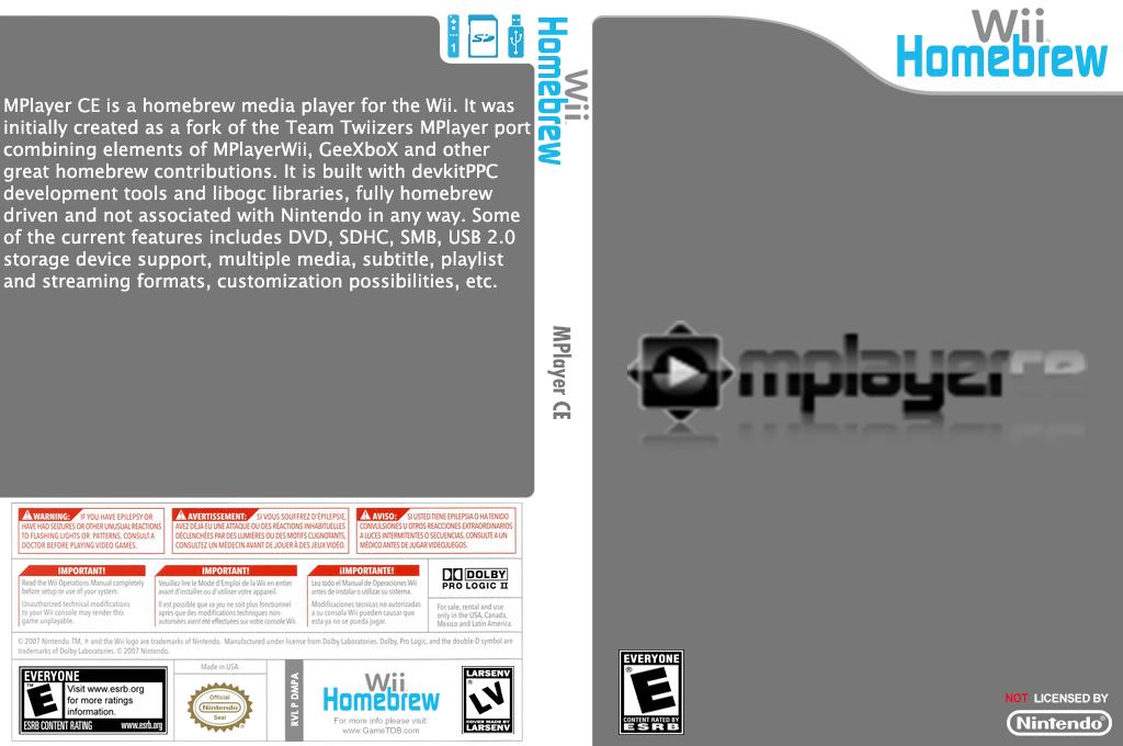 MPlayer CE Wii coverfullHQ2 (DMPA)