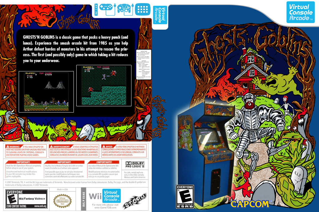 Ghosts 'n Goblins Wii coverfullHQ2 (E54E)
