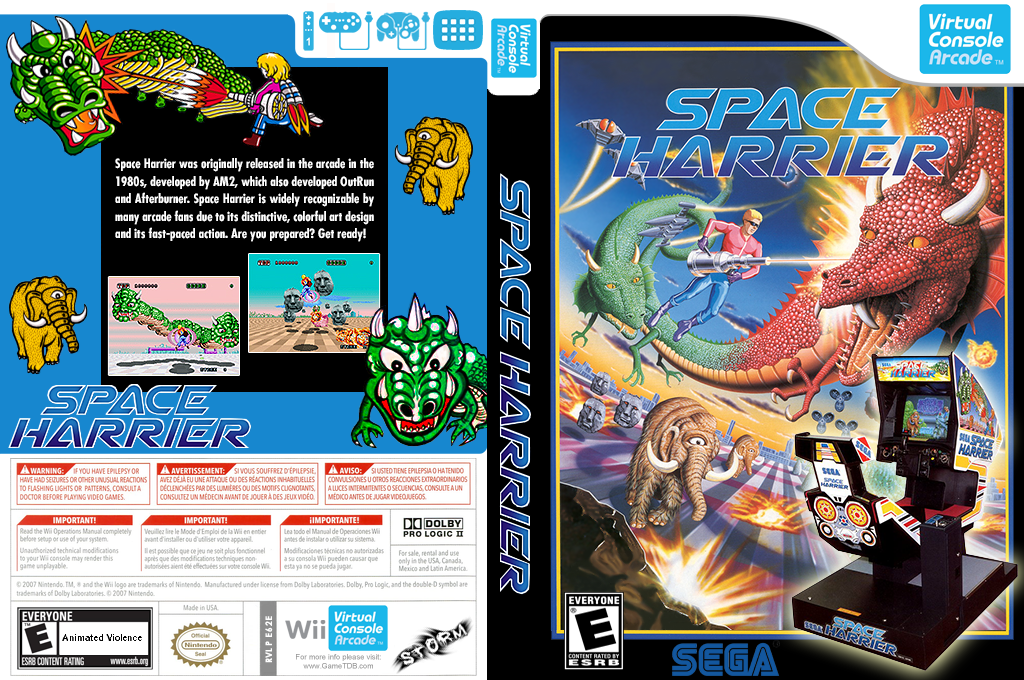 Space Harrier Wii coverfullHQ2 (E62E)