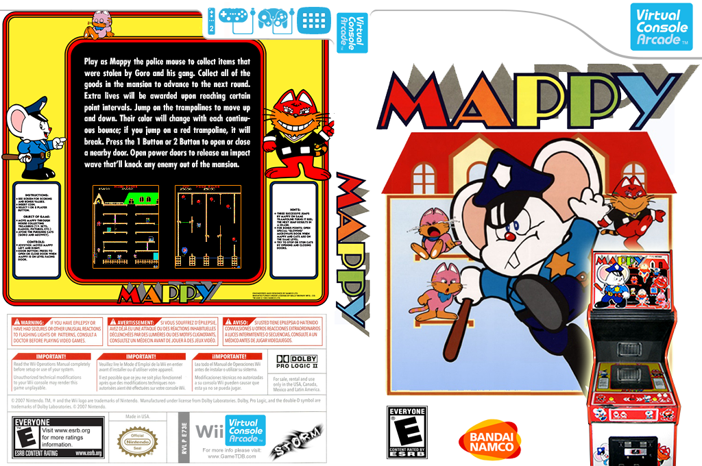 Mappy Wii coverfullHQ2 (E73E)