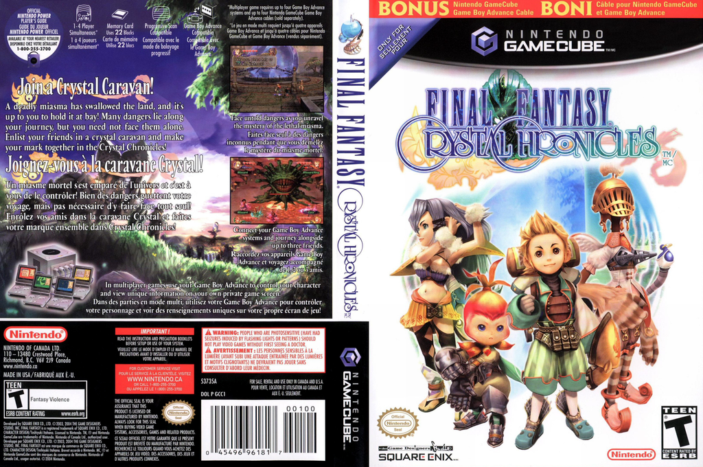 Final Fantasy Crystal Chronicles Array coverfullHQ2 (GCCE01)