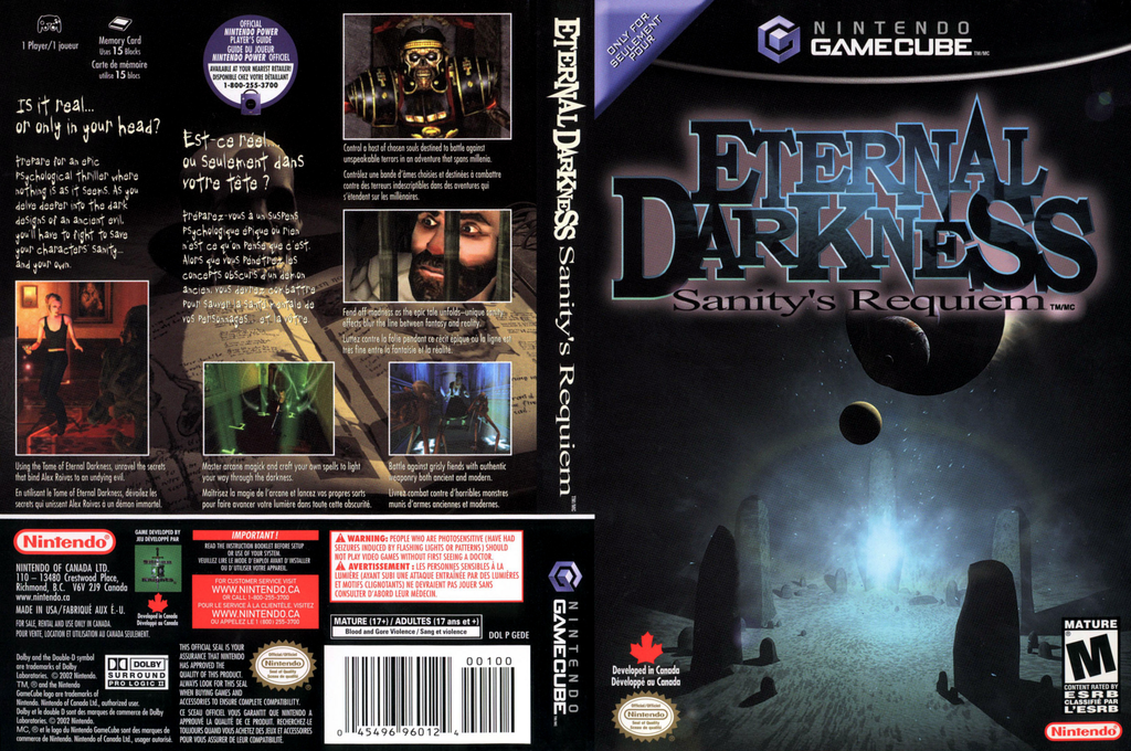 Eternal Darkness: Sanity's Requiem Wii coverfullHQ2 (GEDE01)