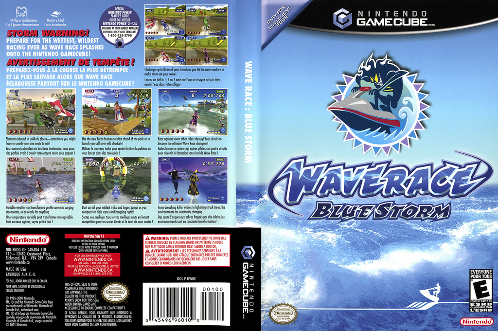 Wave Race: Blue Storm Wii coverfullHQ2 (GWRE01)