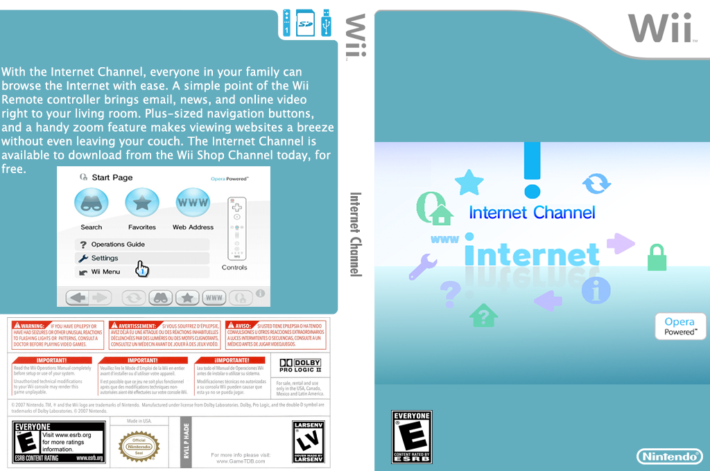 Internet Channel Wii coverfullHQ2 (HADE)