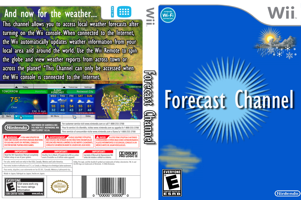 Forecast Channel Wii coverfullHQ2 (HAFE)