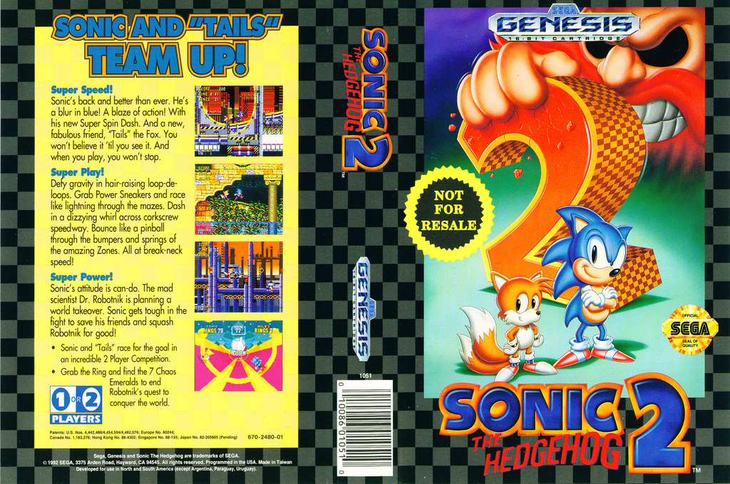 Sonic the Hedgehog 2 Wii coverfullHQ2 (MBBE)