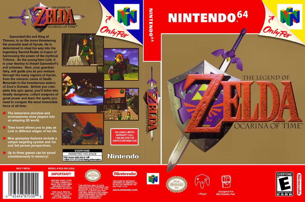 The Legend of Zelda: Ocarina of Time Wii coverfullHQ2 (NACE)