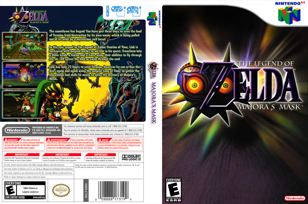 The Legend of Zelda: Majora's Mask Wii coverfullHQ2 (NARE)
