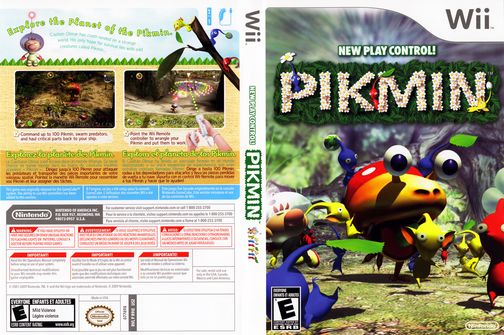 Pikmin Wii coverfullHQ2 (R9IE01)