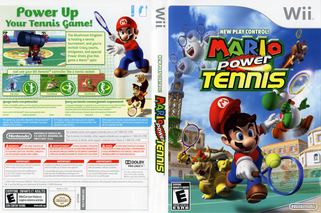 Mario Power Tennis Wii coverfullHQ2 (RMAE01)