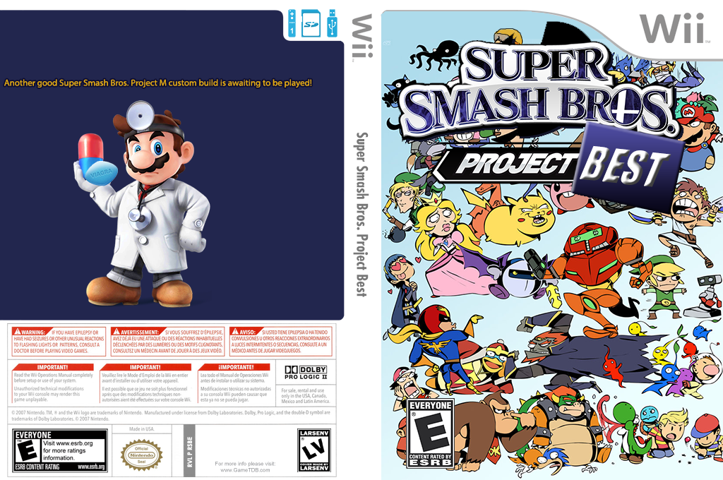 Super Smash Bros. Project Best Wii coverfullHQ2 (RSBE36)