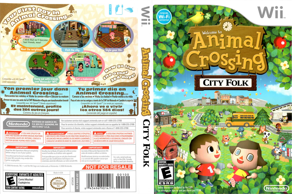 Animal Crossing: City Folk Wii coverfullHQ2 (RUUE01)