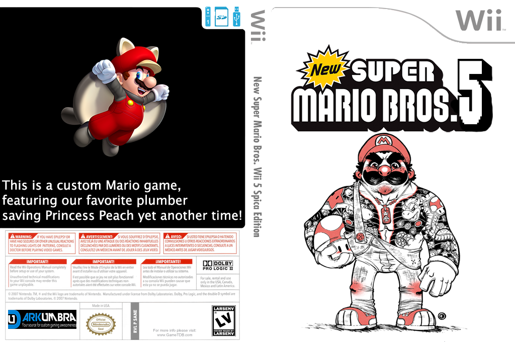 New Super Mario Bros. Wii Five Spica Edition Wii coverfullHQ2 (SANE01)