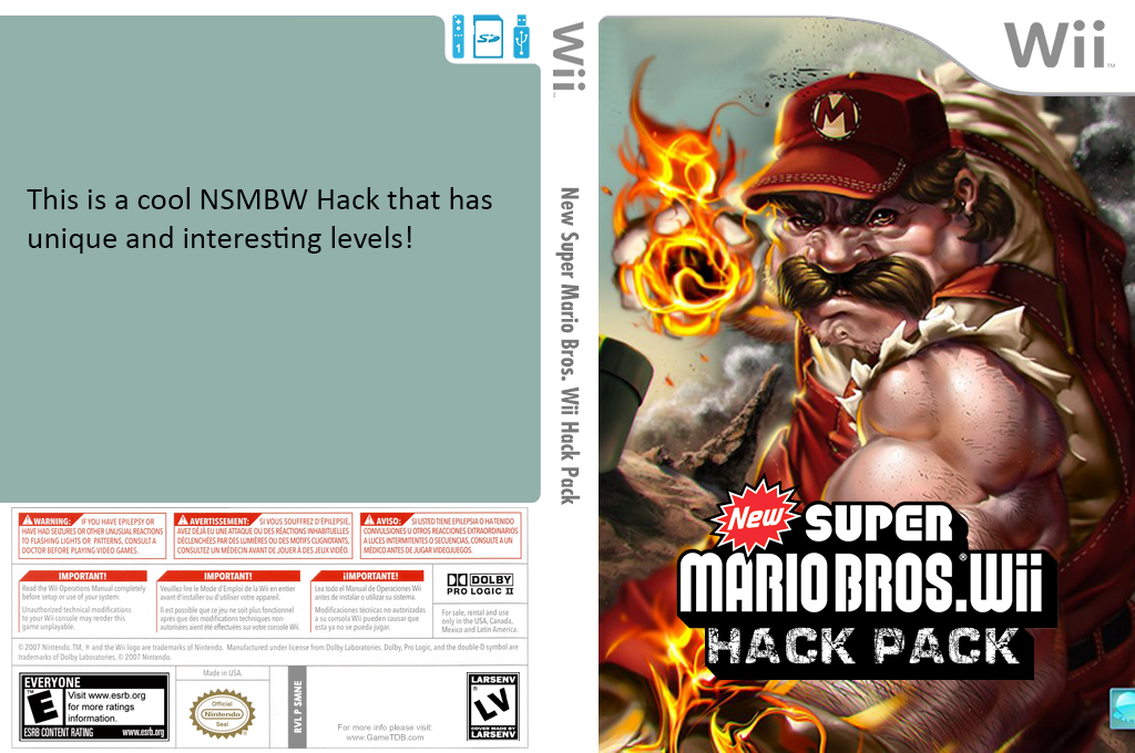 New Super Mario Bros. Wii Hack Pack Wii coverfullHQ2 (SMNE36)