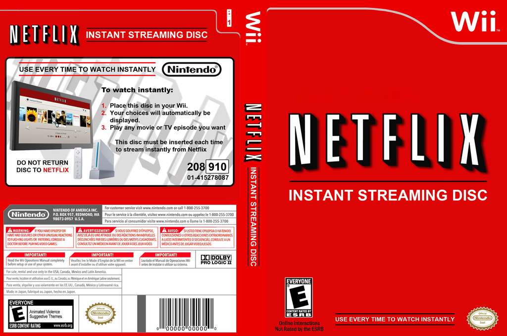Netflix Instant Streaming Disc Wii coverfullHQ2 (SNTEXN)