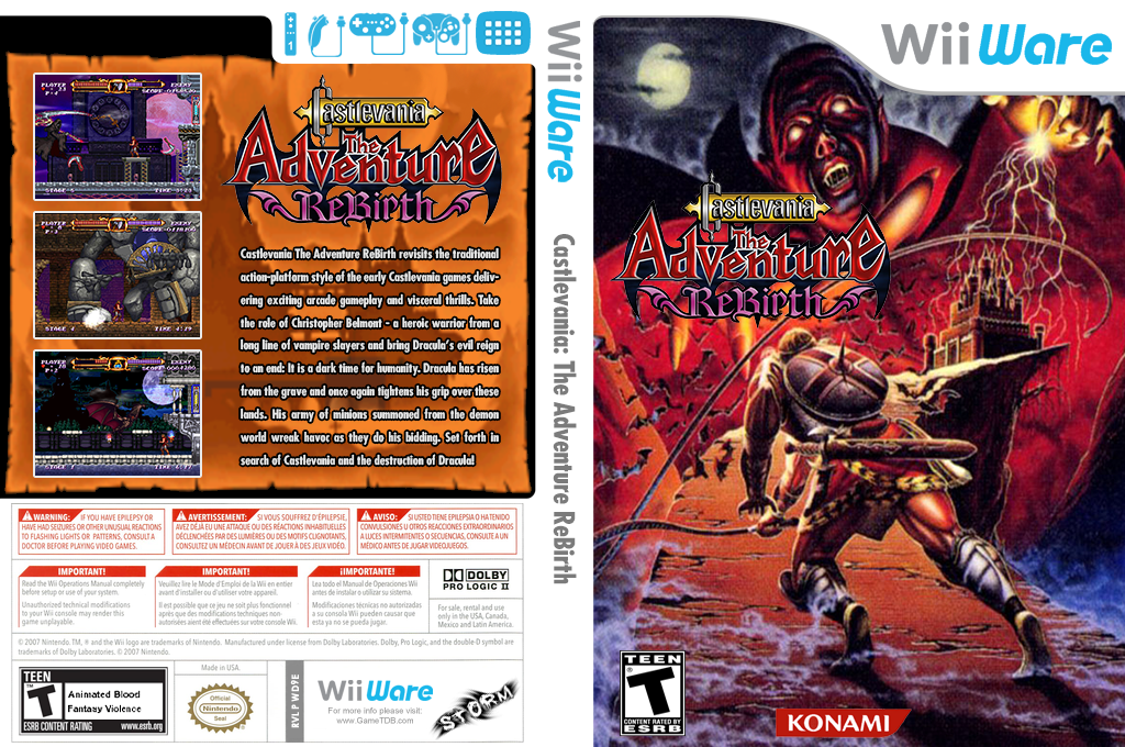 Castlevania The Adventure ReBirth Wii coverfullHQ2 (WD9E)