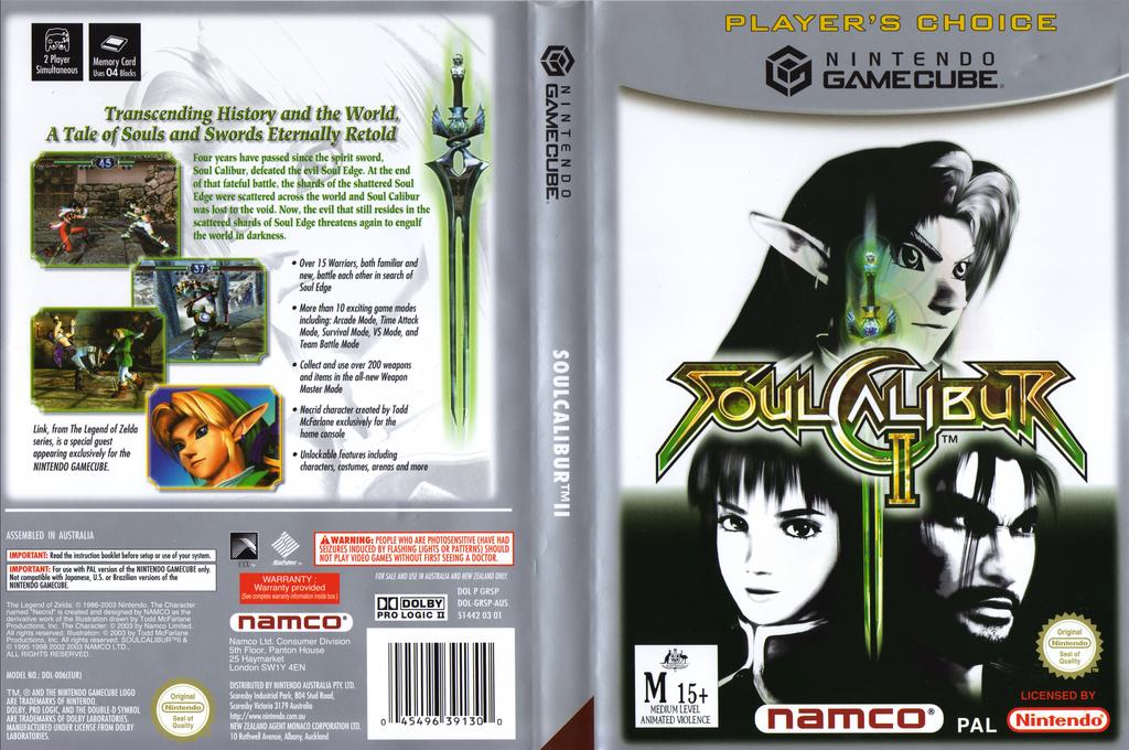 SoulCalibur II Wii coverfullHQB (GRSPAF)