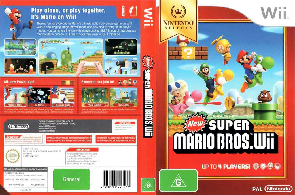 New Super Mario Bros. Wii Wii coverfullHQB (SMNP01)