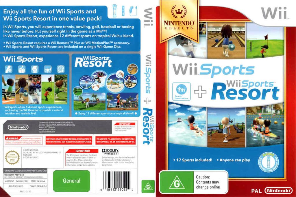 Wii Sports + Wii Sports Resort Wii coverfullHQB (SP2P01)