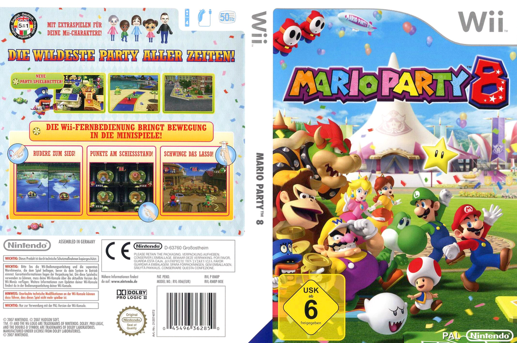 Mario Party 8 Wii coverfullHQB (RM8P01)