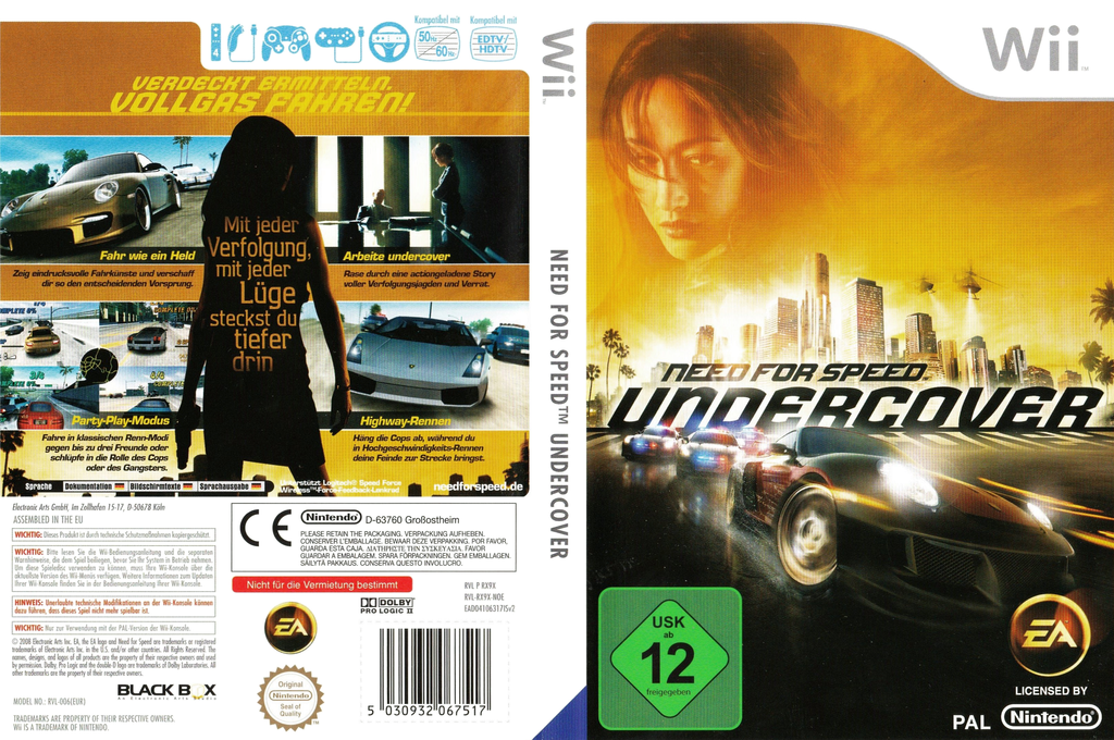 Need for Speed: Undercover Wii coverfullHQB (RX9X69)