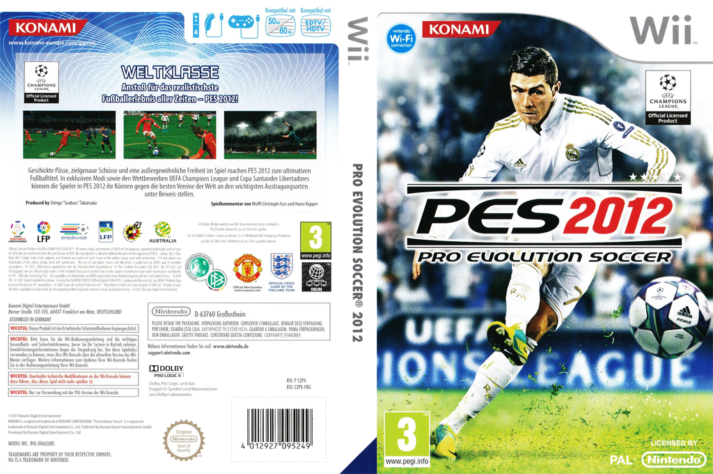 Pro Evolution Soccer 2012 Array coverfullHQB (S2PXA4)