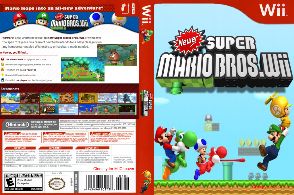 Newer Super Mario Bros. Wii Wii coverfullHQB (SMNP03)