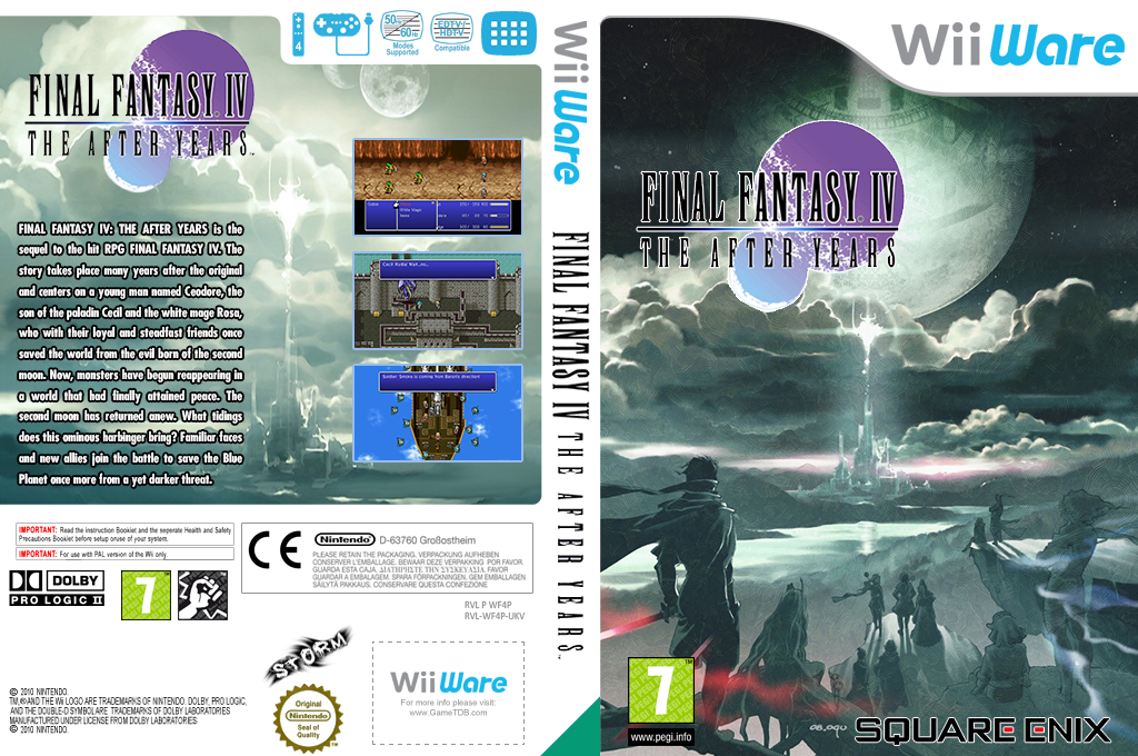 Final Fantasy IV: The After Years Wii coverfullHQB (WF4P)