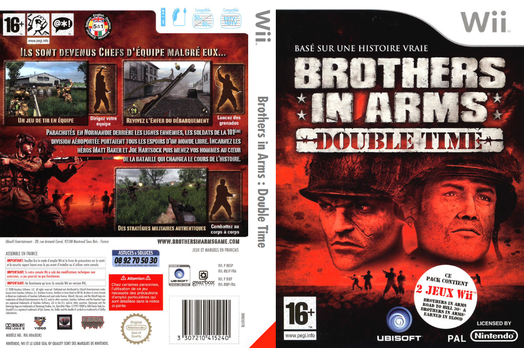 Brothers in Arms : Earned in Blood Wii coverfullHQB (RB5P41)