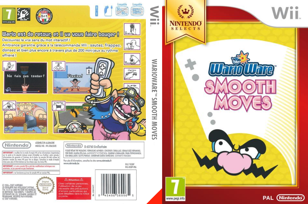 WarioWare : Smooth Moves Wii coverfullHQB (RODP01)
