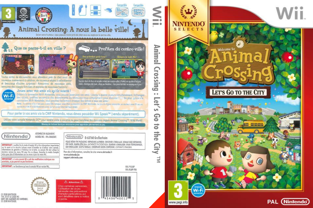 Animal Crossing : Let's Go to the City Wii coverfullHQB (RUUP01)